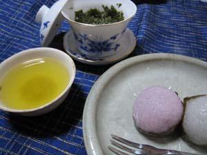 朝宮茶と桜餅